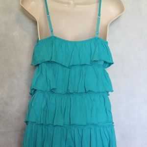 Express Tops - Express Tiered Ruffle Cami Tank Size S